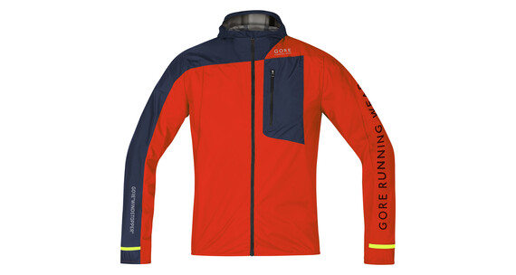 GORE RUNNING WEAR Fusion WS AS Jacket Men orange/black iris